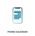 phone calendar icon flat style icon design ui vector image