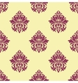 Purple and cream arabesque seamless pattern vector image vector image
