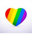 rainbow heart flat icon lgbt community sign vector image