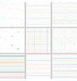 rainbow pastel line geometric seamless pattern vector image