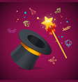 realistic detailed 3d magic wand party concept vector image