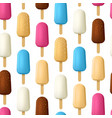 realistic detailed 3d popsicle ice creams seamless vector image