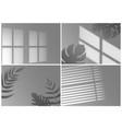 realistic shadow overlay window light with shadow vector image vector image