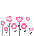 retro spring flowers vector image vector image