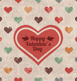 Retro Valentines day greeting card vector image vector image
