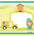 School bus Place for your text vector image vector image