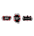 set black friday badges with abstract ragged vector image