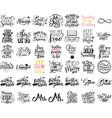 set hand lettering wedding invitation vector image