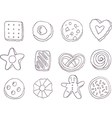 Set of fancy cookies vector image