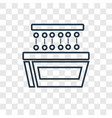 showcase concept linear icon isolated on vector image