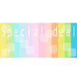 Special Deal Background for Special Price Products vector image