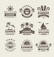 summer badges monochrome labels of summer vector image vector image