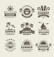 summer badges monochrome labels summer vector image
