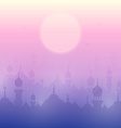 Sunset landscape wallpaper with mosques vector image vector image