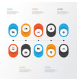 transportation icons set collection of railroad vector image vector image