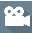 Videocamera web icon flat design vector image vector image