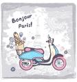 Vintage Paris postcard vector image vector image