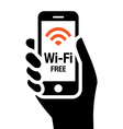 Wi-Fi free icon vector image vector image