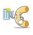 with juice macaroni mascot cartoon style