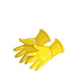 yellow rubber gloves vector image vector image