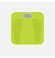 electronic weight scale with word cool Flat vector image