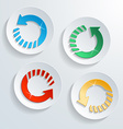 button with circle arrow shape and shadow effect vector image