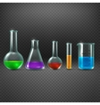 Chemical laboratory with chemicals in test tube vector image