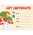 Gift certificate template funny design vector image