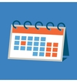 Agenda paper icon of the calendar with one month vector image