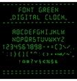 Font green digital clock vector image