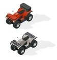 Quad bikes isometric icons set vector image