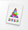 2018 new year greeting card 2 vector image vector image