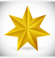 3d faceted beveled 6 pointed star vector image
