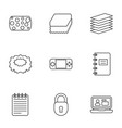 9 pad icons vector image vector image