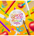 Back to school with watercolor colorful lettering vector image vector image