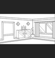 background muslim religious inside home family vector image
