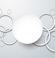 Background with paper white circles vector image vector image
