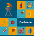 barbecue grill icons set bbq concept vector image