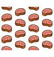 beef steak meat seamless pattern on white vector image vector image