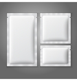 Blank white plastic sachets for coffee sugar salt vector image vector image