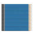 Blue pencils set vector image