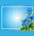 border template with blue flowers vector image vector image