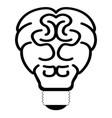 Brain lightbulb outline