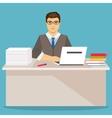 Businessman in office flat vector image vector image