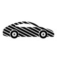 car icon simple black style vector image vector image