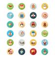 Christmas Flat Icons 2 vector image