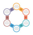 circle diagram with six steps vector image vector image