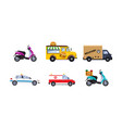 city transport set urban public and freight vector image vector image