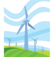 Clean energy banner Wind power generation vector image