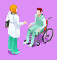 clinic doctor talking with patient isometric vector image vector image